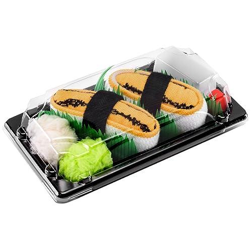 Rainbow Socks - Mujer Hombre Calcetines Sushi Tamago - 1 Par