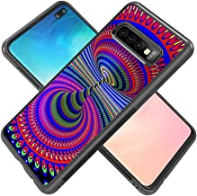 SunbirdsEast Customize Design Spiral Pattern Samsung Galaxy S10 Plus Case for Samsung Galaxy S10 Plus,Black PC and TPU Protective Phone Case