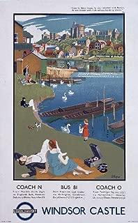 Underground - Windsor Castle Vintage Poster (artist: Allinson) England (16x24 Giclee Gallery Print, Wall Decor Travel Poster)