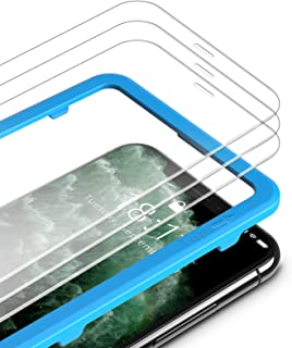TAMOWA Skärmskydd för iPhone 11 Pro Max/iPhone Xs Max (3-pack), premium härdat glas 9H skottsäker film med installationsra...