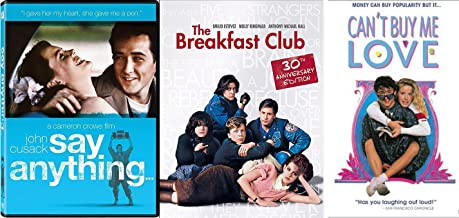 80's Triple Teen Can't Buy Me Love & Pop Art The Breakfast Club + Say Anything Flashback Fun Comedy High School Teen movie Set Triple Feature