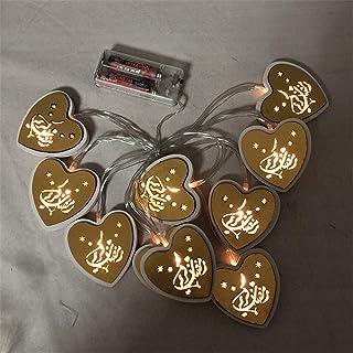 Saweky Multi-style Pattern of LED Lamp String 2M 10 Lamps for Ramadan Holidays Eid Al Adha Mubarak Ramadan Festival Decora...