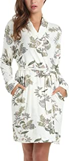 Amorbella Womens Soft Bamboo Bathrobe Loungewear Robe with Pockets