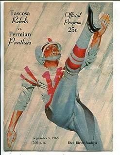 1966 Texas High School Football Program Tascosa v Permian 9/9 49537