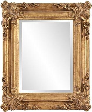 Howard Elliott Edwin Hanging Rectangular Accent Wall Mirror, Rustic Antique Gold, 19 x 23 Inch
