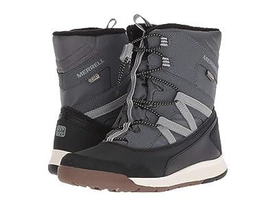 Merrell Kids Snow Crush Waterproof (Big Kid) (Grey/Black) Boys Shoes