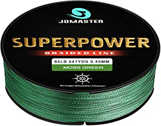 Jomaster Superpower Braided Fishing line, Abrasion Resistant Braided Lines – Incredible..