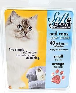 Soft Claws Feline Cat Nail Caps Take Home Kit, Small, Orange