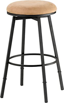 Hillsdale Furniture 4149-831 Adjustable Backless Bar Stool, Black/Brown
