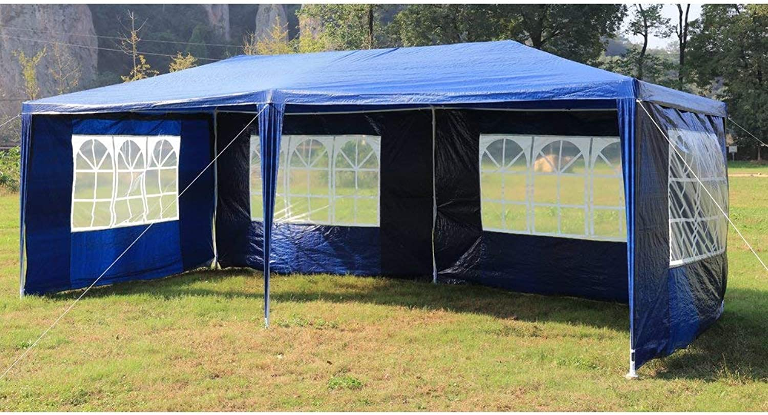 3m x 6m Gazebo Outdoor Marquee Tent Canopy bluee
