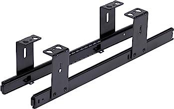 FIX&EASY 27mm ladegeleiders met slot voor toetsenbordlade, toetsenbordschuif geleiderails zwart 400mm met vergrendelen, ra...