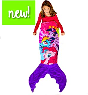 My Little Pony Mermaid Blanket - Super Soft My Little Pony Fleece Blanket Featuring Three Favorite Ponies - Kids Size for My Little Pony Fans