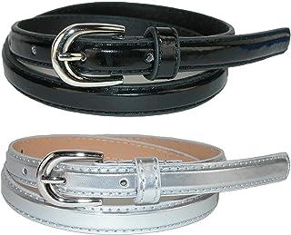 CTM Kid's Skinny Dress Belt (Pack of 2 Colors)