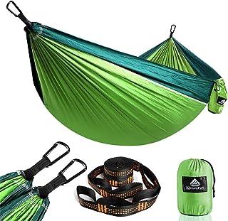 comprar comparacion NatureFun Hamaca Ultra Ligera para Viaje y Camping | 300kg de Capacidad de Carga,Transpirable, Nylon de Paracaídas de Seca...