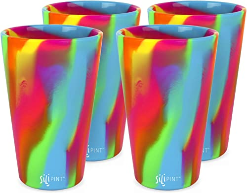Silipint Silicone Pint Glass. Unbreakable, Reusable, Durable, and Guaranteed for Life. Shatterproof 16 Ounce Silicone...