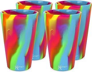 Silipint Silicone Pint Glass Set, Patented, BPA-Free,...