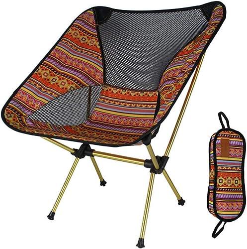 JHNEA Chaise de Camping Fauteuil Pliable, Quad engrener Back Fauteuil de PêChe Chaise De Plage Camping Chaise Ultra-LéGèRes Pliante pour la Randonnée PêChe Barbecue,D_65X57cm