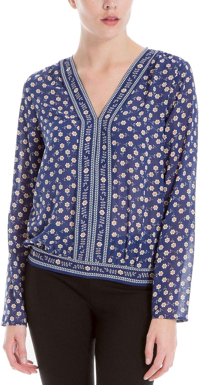 Max Studio London Womens Mixed Print Knit Blouse