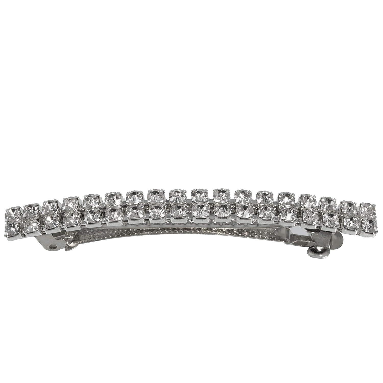 Slim Slender Thin Crystal 2 Hair Clip Row Limited price sale New Free Shipping Rhinestone