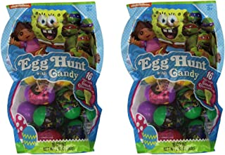 Nickelodeon Filled Easter Egg Hunt with Candy Mega Pack - 32 Eggs
