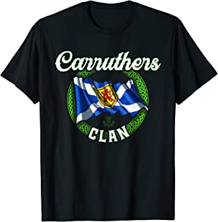 Carruthers Clan Scottish Last Name Scotland Flag T-shirt