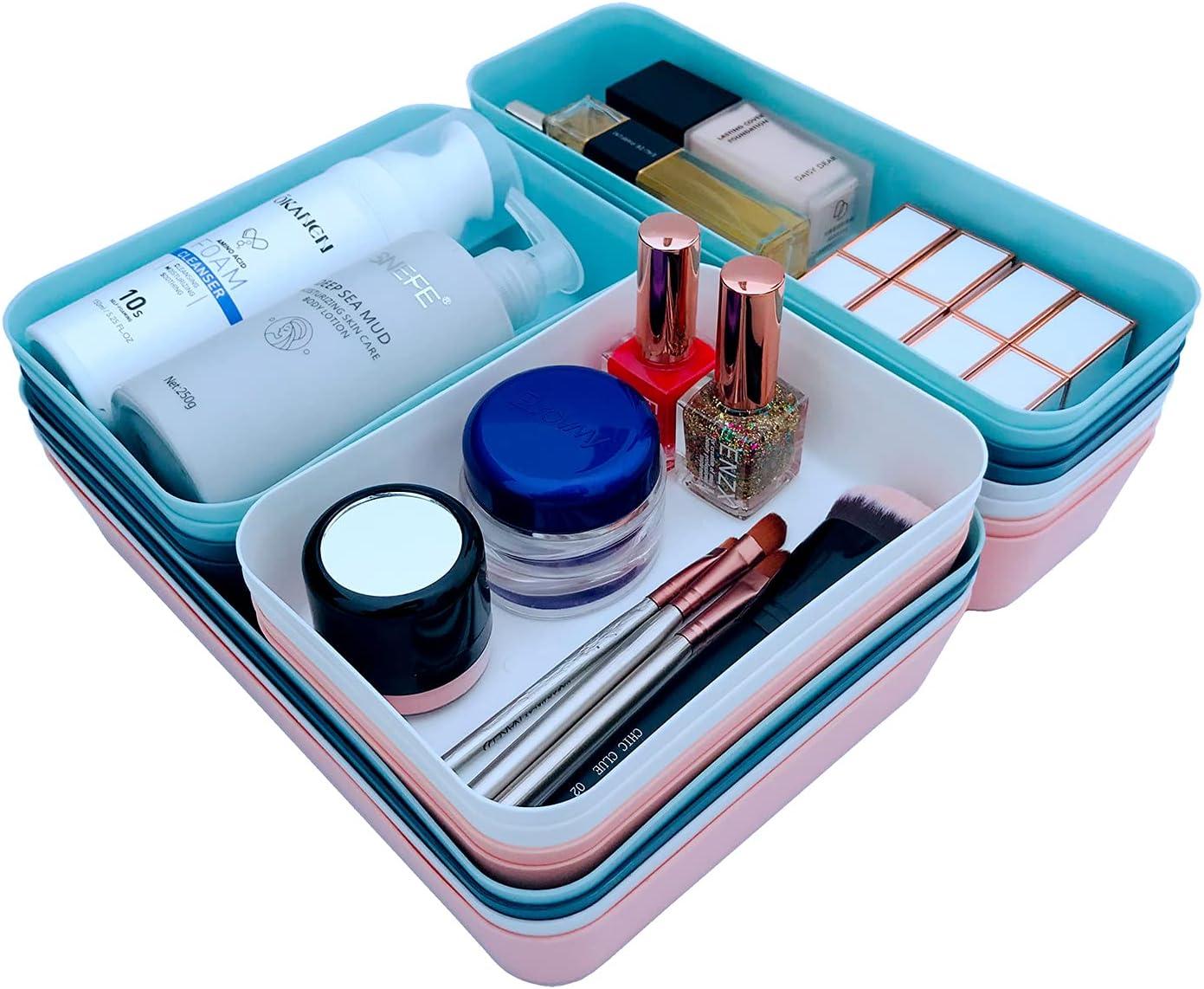 Max 76% OFF Drawer Organizer Cheap SALE Start Plastic Storage Trays for Divider Set Ba Office