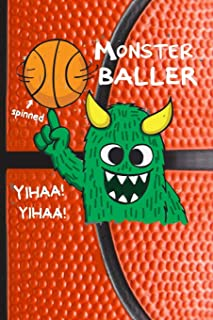monster baller: spinned yihaa basketball for men Lined Notebook / Diary / Journal To Write In 6