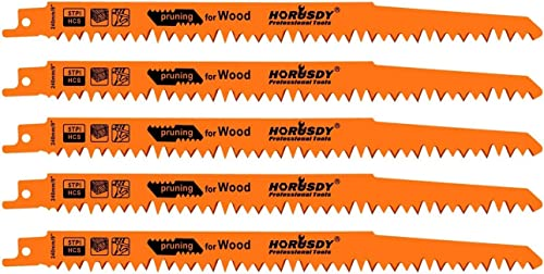 high quality HORUSDY 9-Inch Wood Pruning popular Reciprocating outlet sale Saw Blades, 5TPI Saw Blades - 5 Pack online