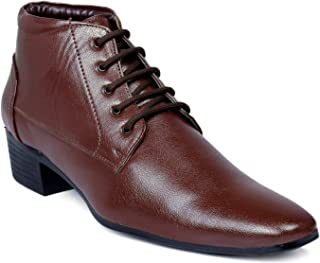 BXXY Formal Height Increasing Lace-up Boots for Mens