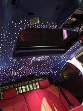 Car Use 16W RGBW LED Fiber Optic Light Star Ceiling Kit, 28 Keys Sound Sensor Music Mode Remote 9.8ft/3m Long 0.03in/0.75mm 0.04in/1mm 0.06in/1.5mm 295PCs