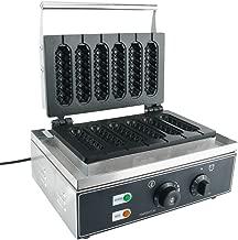 YaeTek 110V Commercial Use Electric Waffle Maker Hot Dog Muffin Machine Corn Dog Maker, 6 Grid