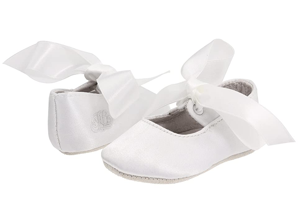 Polo Ralph Lauren Kids Briley (Infant/Toddler) (White Satin) Girls Shoes