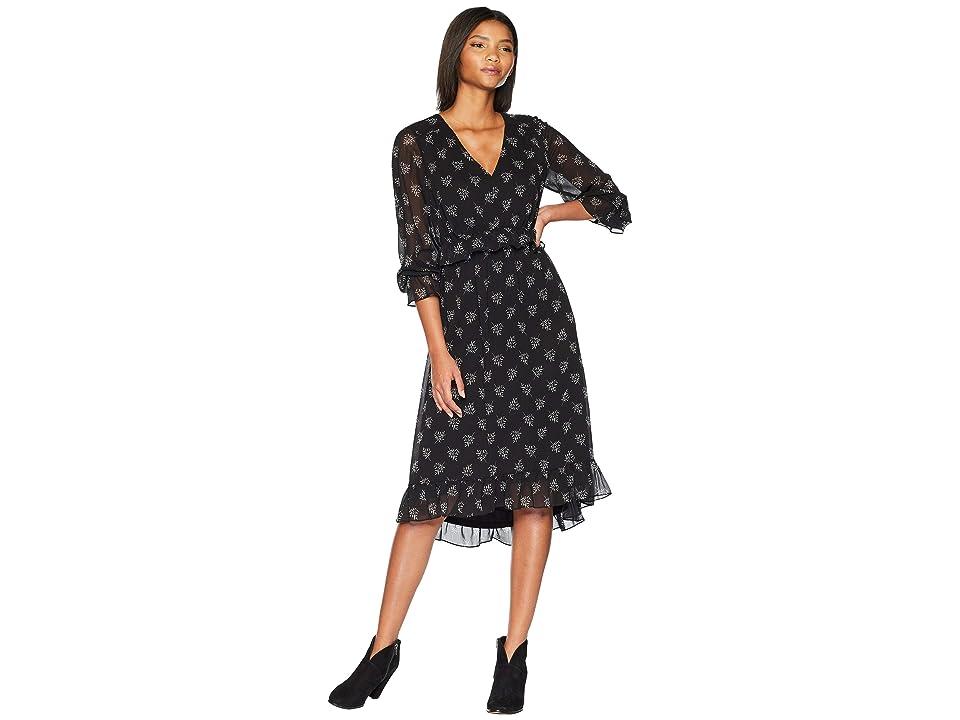 kensie Whispering Shadows Dress KS0K8310 (Black Combo) Women