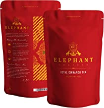 Royal Cinnamon Spice Tea (Fresh Ceylon Cinnamon Chips)   100 Cups   Delicious Premium Loose Leaf   Perfect Hot & Cold   Soul Warming Spicy Aroma   True Honey Cinnamon Pieces   No Artificial Flavors