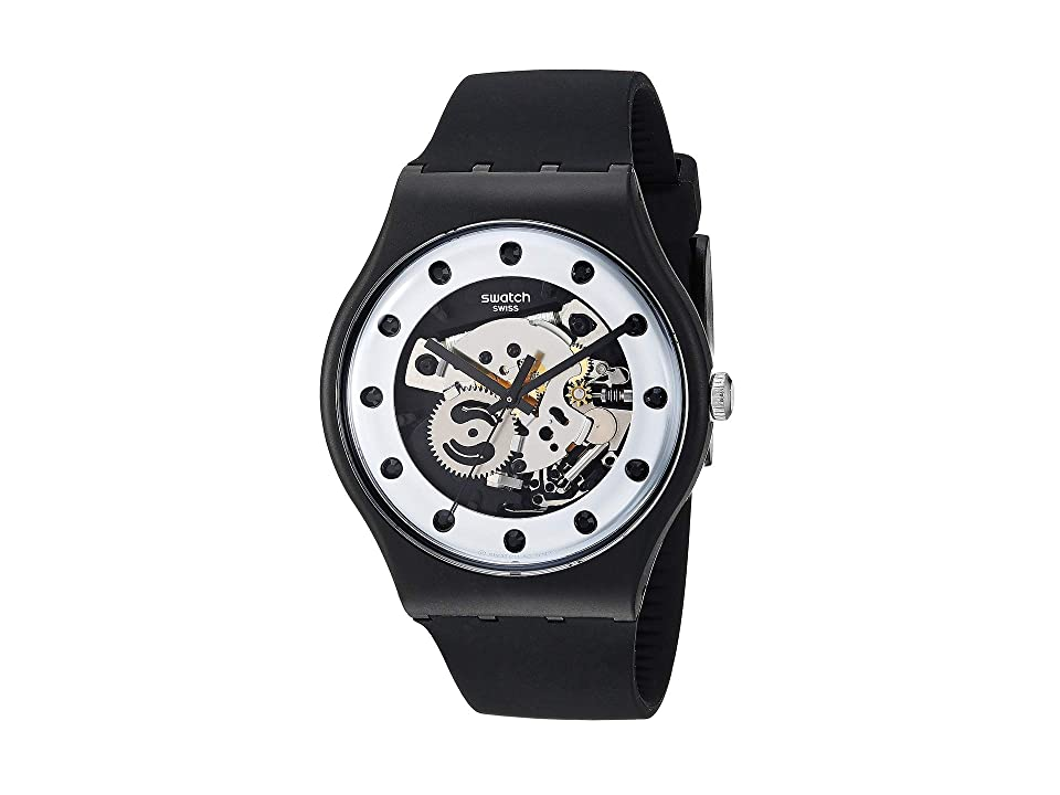Swatch Silver Glam - SUOZ147 (Black) Watches