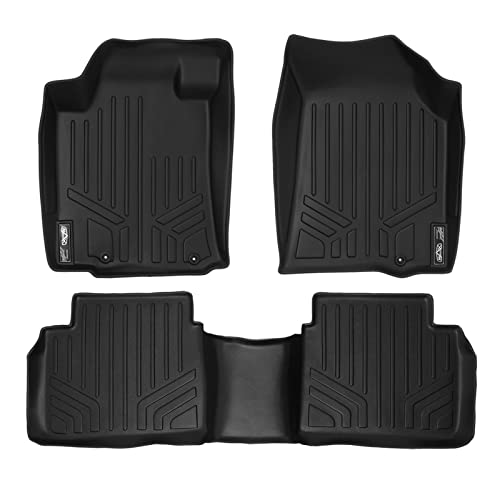 SMARTLINER Floor Mats 2 Row Liner Set Black for 2013-2018 Nissan Altima Sedan (