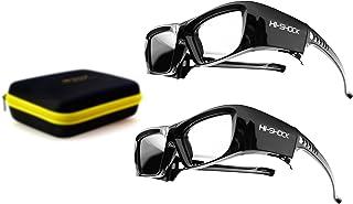 2X Hi SHOCK® RF / BT Pro Black Diamond & Dualcase   Aktive 3D Brille für EPSON 3D Beamer   komp zu ELPGS03, TW9200W, EH TW9200, EH TW9100W, EH TW8100, EH TW7200 [120 Hz wiederaufladbar]