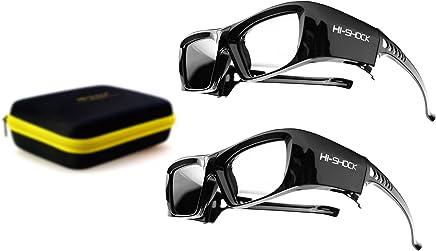 2x PANASONIC compatible active 3D Glasses Hi-SHOCK Black Diamond   for all 2013-2018 SONY SAMSUNG SHARP PANASONIC HDR / 4k TV 's