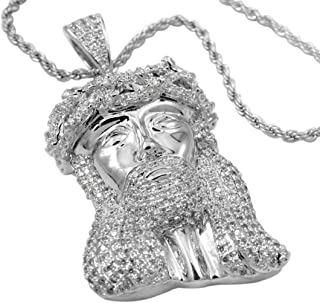 Best white gold jesus piece Reviews