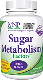 Michael's Naturopathic Programs Sugar Metabolism Factors - 90 Vegan Tablets - Nutrients Support The Production of Insulin ...