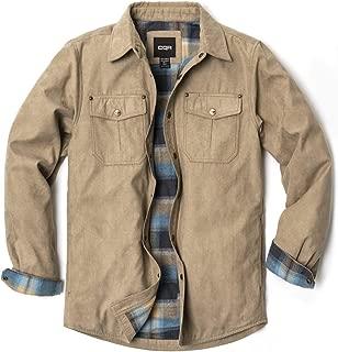 CQR Men's Long Sleeved Rugged Suede Shirts Jacket. Shirket HOK700