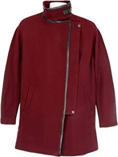 J Crew Madewell City Grid Coat Style# E2236 Dark Cabernet New
