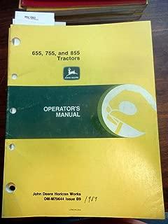 John Deere 655 755 855 Tractor Operators Manual