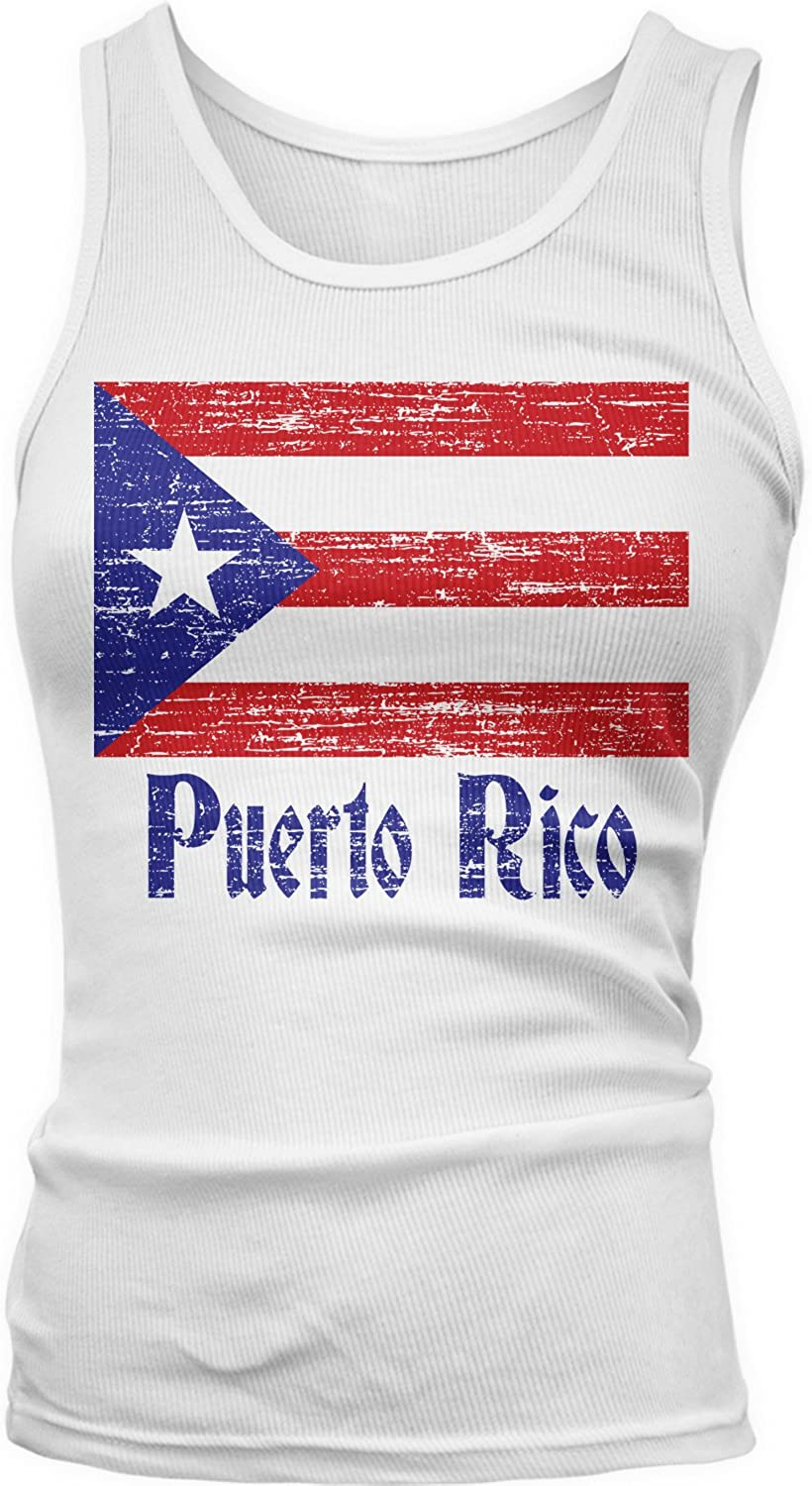 67% OFF of fixed price Amdesco Junior's Faded Excellent Puerto Rican Rico Flag Top Tank