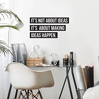 """Vinyl Wall Art Decal - It's Not About Ideas It's About Making Ideas Happen - 17.7"""" x 33.3"""" - Motivational Positive Quote f..."""