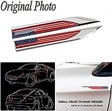 CHAMPLED USA Flag x 2 Car Auto Truck Chrome Metal Decal American Sticker 3D Emblem Badge For HONDA INFINITI KIA HYNDAI DACIA DAEWOO