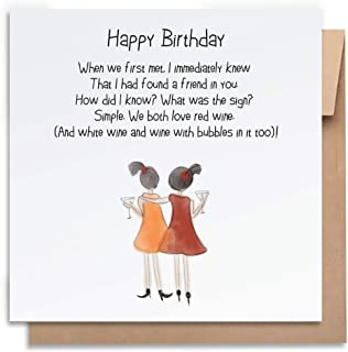 Birthday Card-Found a Friend-with Envelope, Birthday Card Funny Birthday Card Humorous Birthday Card for Her Greeting Card...