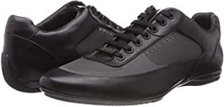Hugo Boss Men's Shoes HB Racing Lowp Itny2 Low Top 100% Leather 50397671 Black Trainer by BOSS