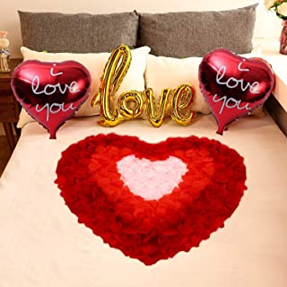 Anniversary Wedding Valentine Romantic room Decoration Foil Balloon String clip light Love