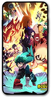 Anime iPhone 7, iPhone 8 Case, Ultra-Thin Manga Acrylic Rear Panel with Soft TPU Bumper Military Cover for iPhone 7/8 Only 4.7 inches (My-Hero-Academia)